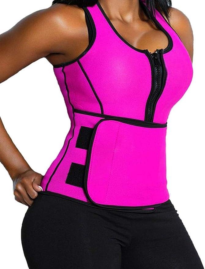 Medium LaLaAreal Men/'s Neoprene Sweat Vest for Muscle Development and Rapid Slimming through Burning Fat Stomach and Abdomen Belt