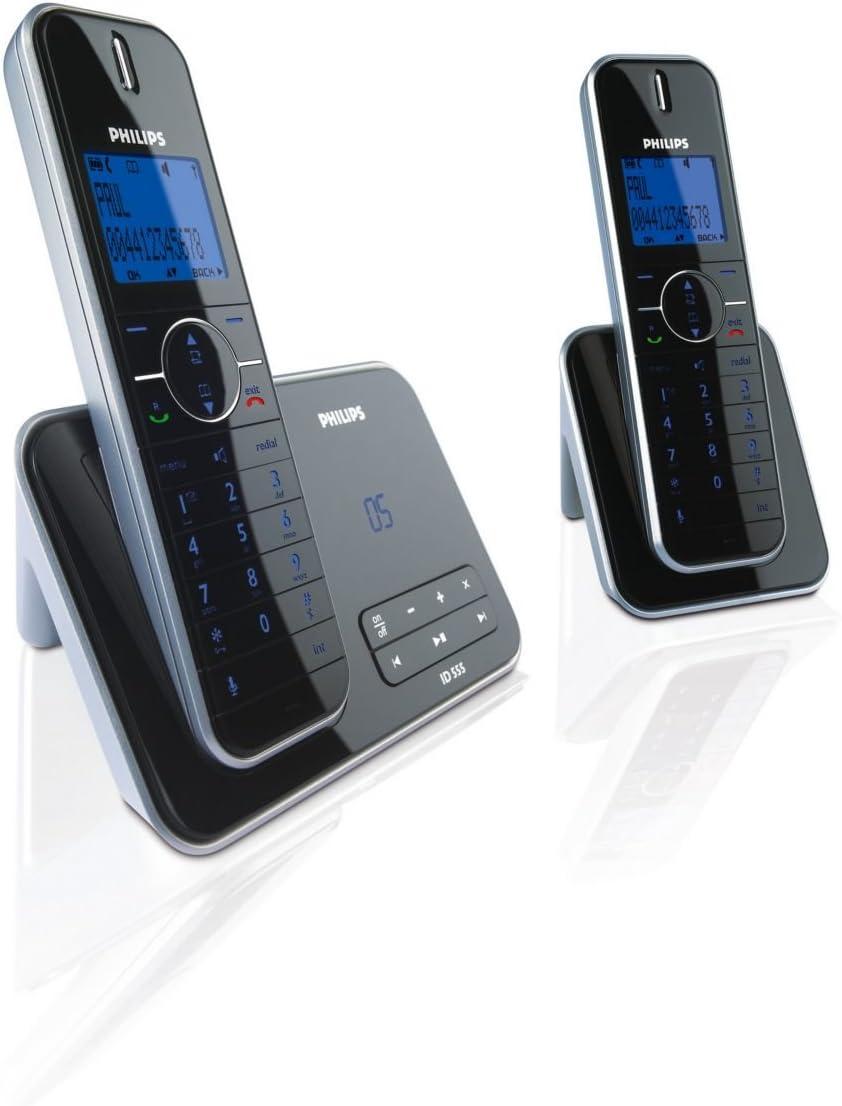 Philips ID555 Twin - Teléfono Fijo Inalámbrico con Contestador [Importado de Francia]: Amazon.es: Electrónica