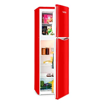 Klarstein Monroe XL Red • Frigorifero • Congelatore • anni \'50/\'60 ...