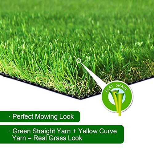 SV Household Decor Realistic Deluxe Artificial Grass Synthetic Thick Lawn Turf Carpet -Perfect for Indoor/Outdoor Landscape (4 FT x 7 FT (28 Square FT))