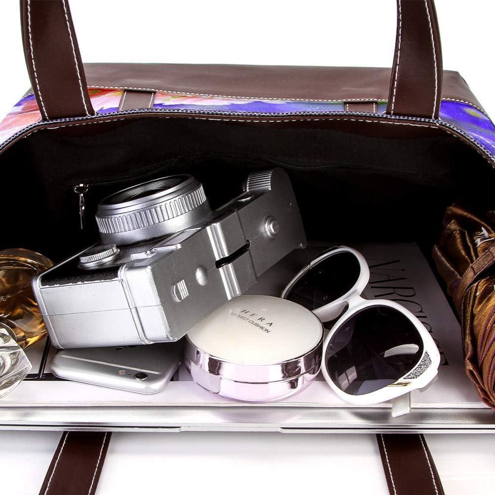 Desheze Womens Big Capacity Canvas Handbag Toe Bag Shoulder Bag Hobo Bag.Beautiful Bouquet13.3x2x10.2 in