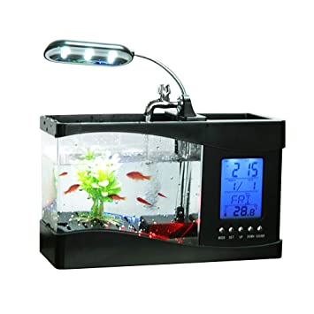 Amazon Com Docooler Usb Desktop Mini Fish Small Fry Tank Aquarium