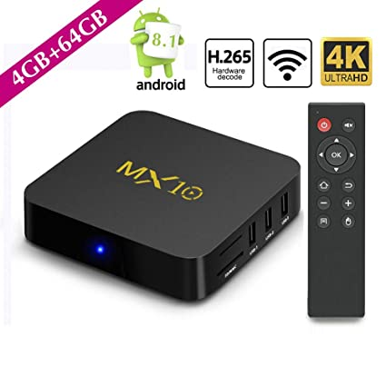 tv box android 8.1 4gb 64 gb ddr4  : SCSETC Newest Android TV Box DDR4 4G+64GB,4K Android 8.1 ...