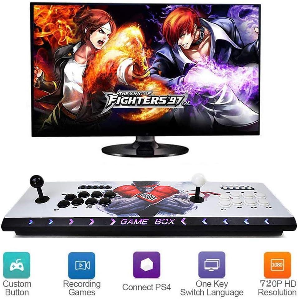 ZQYR# 3D Home Arcade Game Console Pandora's Box   2448 Retro HD Games   4 Player Game Controls   Full HD 1280x720 Video   Support Multiplayer Online   HDMI/VGA/USB/AUX Audio Output, HD-1609