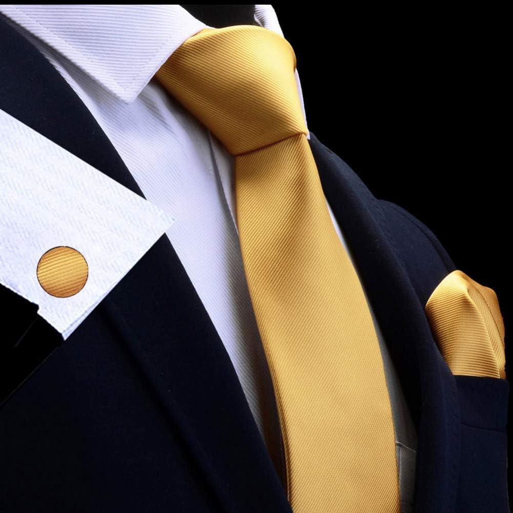 CNBB Conjunto De Corbata para Hombre Sólido 8Cm Pañuelo Corbatas ...