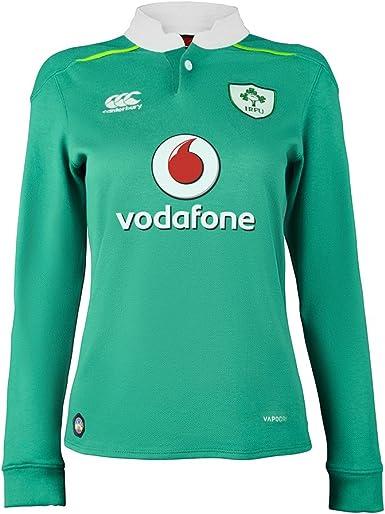 Canterbury - Camiseta de Rugby de Mujer de Irlanda (Manga Larga, Camiseta Local, Temporada 2016/2017), Color Verde, Mujer, Ireland Home Classic, Bosphorous Green: Amazon.es: Ropa y accesorios