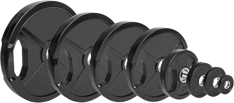 Set di Dischi Olimpici gommati C.P 30 kg Bumper Plates Sports 60 kg e 90 kg Pesi Dischi da 50 mm