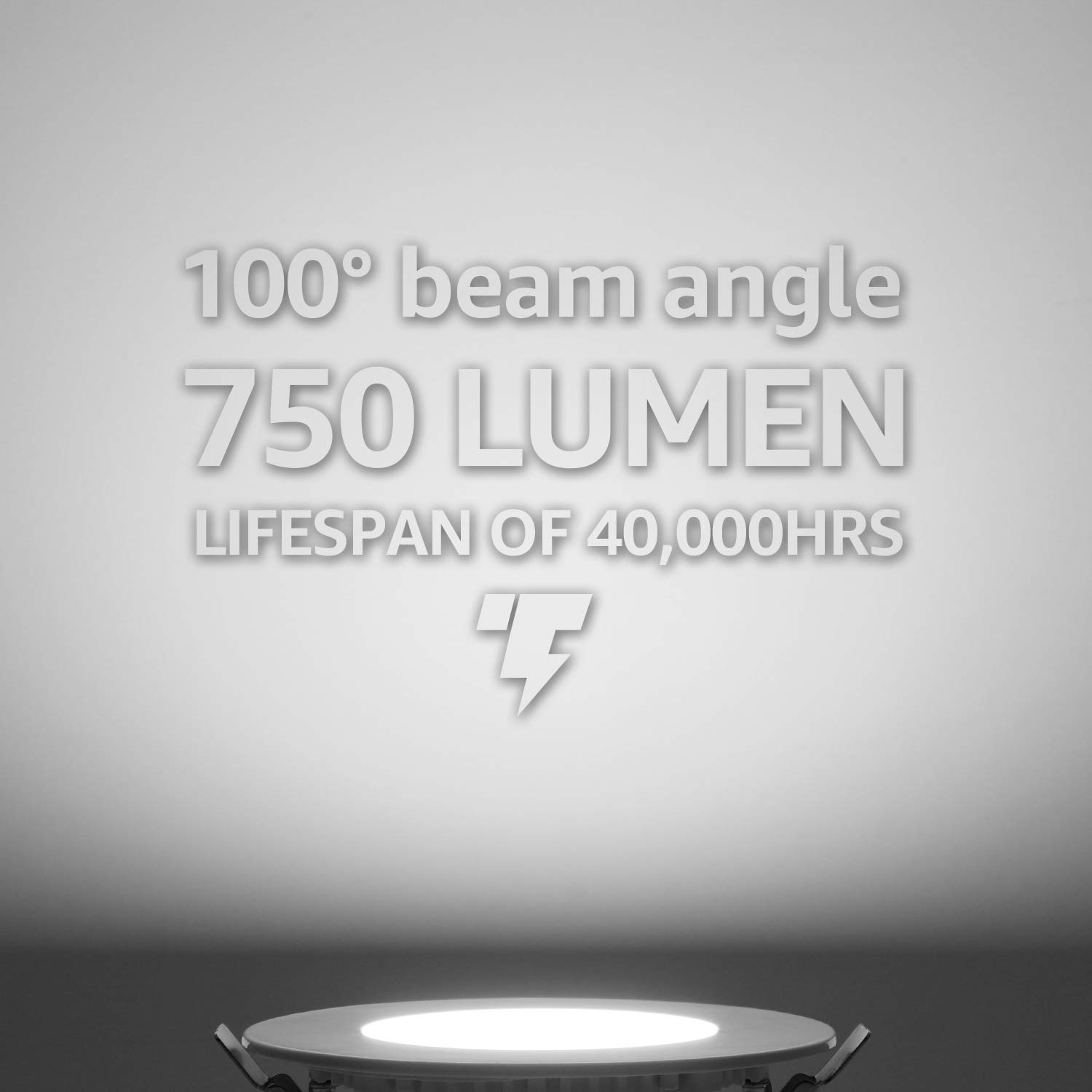 TORCHSTAR Premium 10.5W 4-Inch Ultra-Thin LED Recessed Light with J-Box Pack of 6 Dimmable Slim Panel Wafer Downlight 5 Years Warranty 750lm White 3000K ETL /& Energy Star