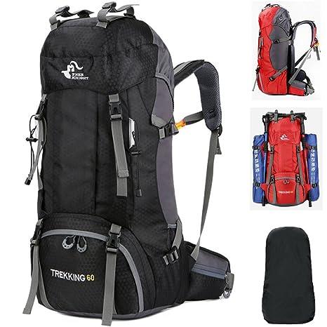 Fengtu Large 60L Hiking Backpacks for Men Women Waterproof Nylon Backpack  Camp Traveling Backpacks Treking Sports c9e17bd05a616