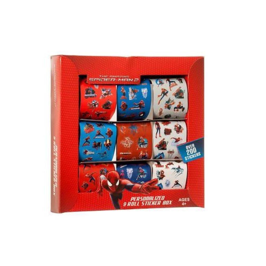 b33c008367adc Amazon.com: Marvel Spider Man 9 Rolls Sticker Box Set: Toys & Games