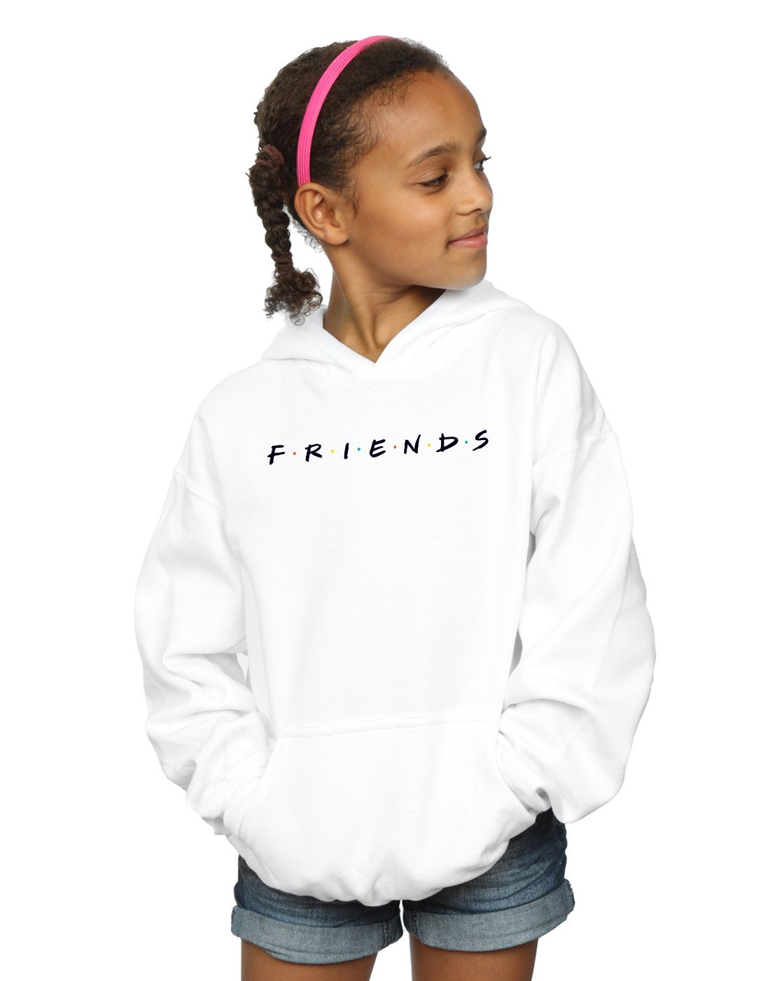 Absolute Cult Friends Girls Text Logo Hoodie