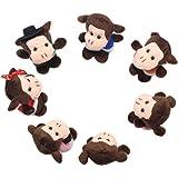 Homgaty Finger Puppets-Five Little Monkeys Jumping On The Bed Story Telling Nursery Fairy Tale Kids Gift Set Of 7