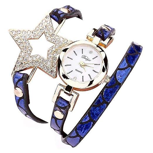 Reloj para Mujer, Brazalete de Relojes Cuero con pedrería a la Venta Liquidación Relojes de