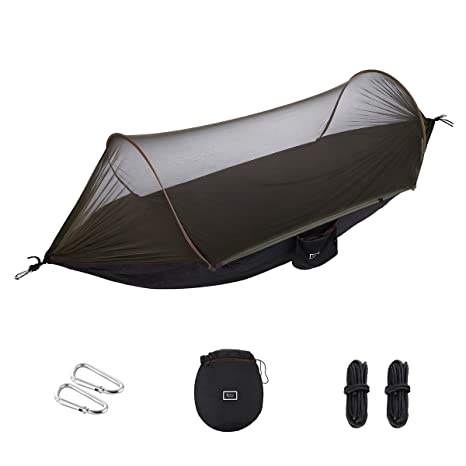 Sports & Entertainment Camp Sleeping Gear Popular Brand Camping Equipment Portable Parachute Fabric Camping Hammock Hanging Bed With Mosquito Net Sleeping Hammock Outdoor Hammock Carefully Selected Materials