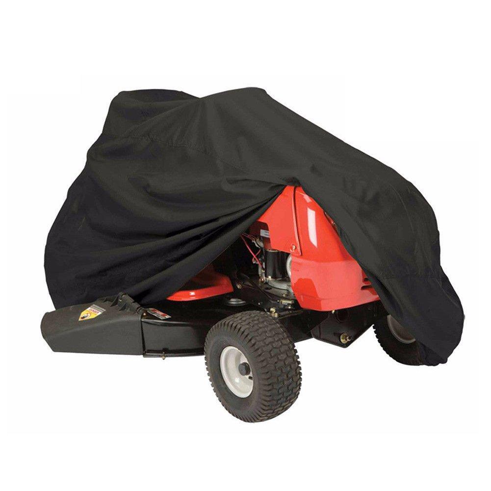 EMVANV Tracteur Tondeuse Coque d'équitation de Tondeuse Housse de Protection 210d Tissu Oxford étanche résistant aux UV Jardin Pelouse extérieure M Noir