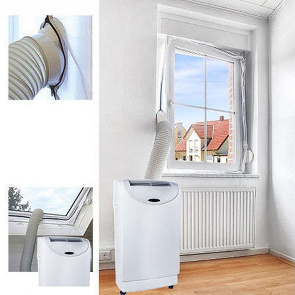 JOYOOO para aparatos de aire acondicionado portátiles Cubierta de ventana AirLock, Pantalla para evitar la entrada de aire caliente accesorio de sistema de ...