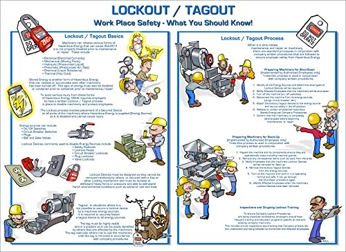 ZING 6065 Eco Lockout Tagout Poster, What You Should Know, 18Hx24W
