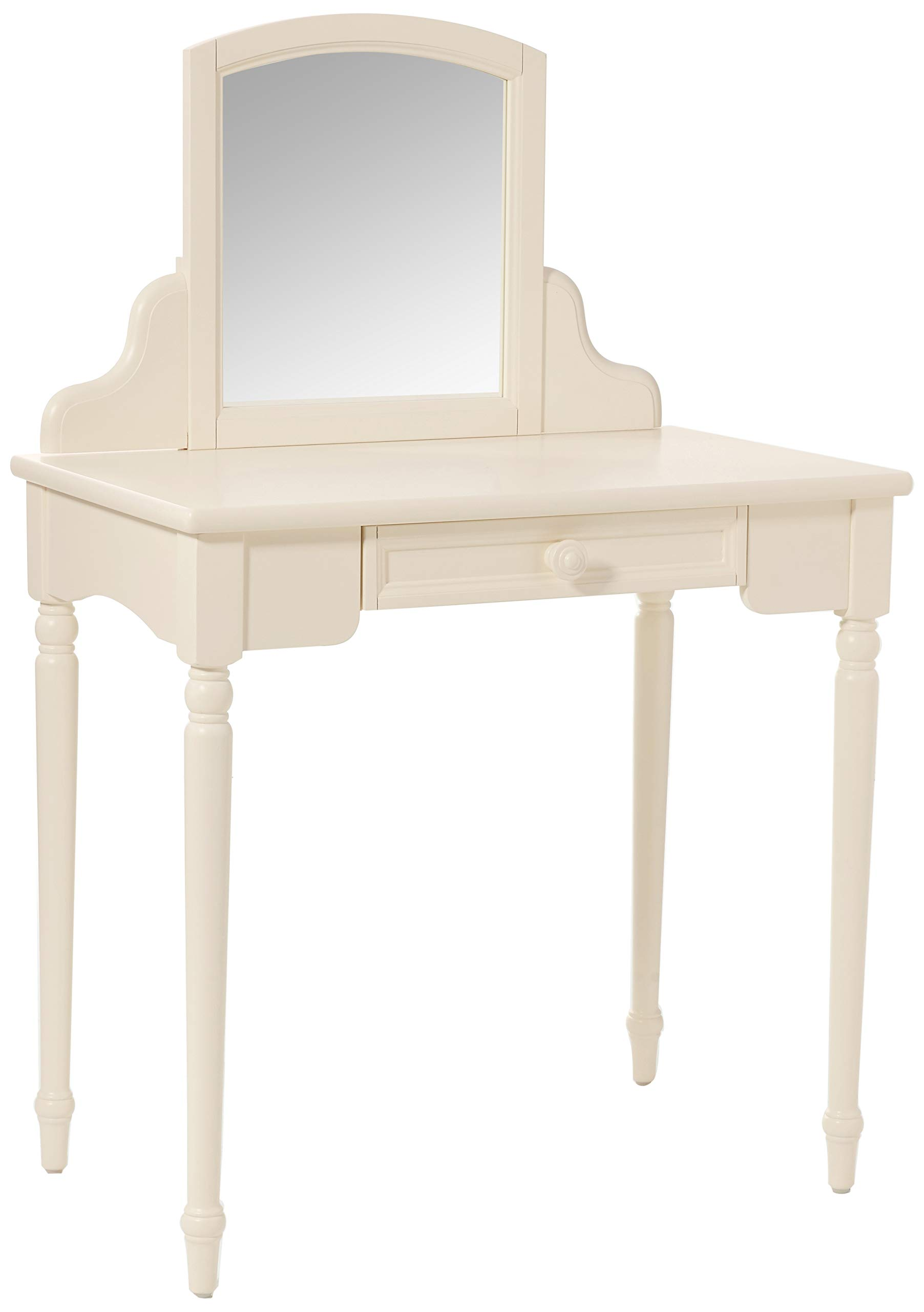Carriage House, Children Vanity Table with Mirror Storage, Children's Furniture, Vintage White