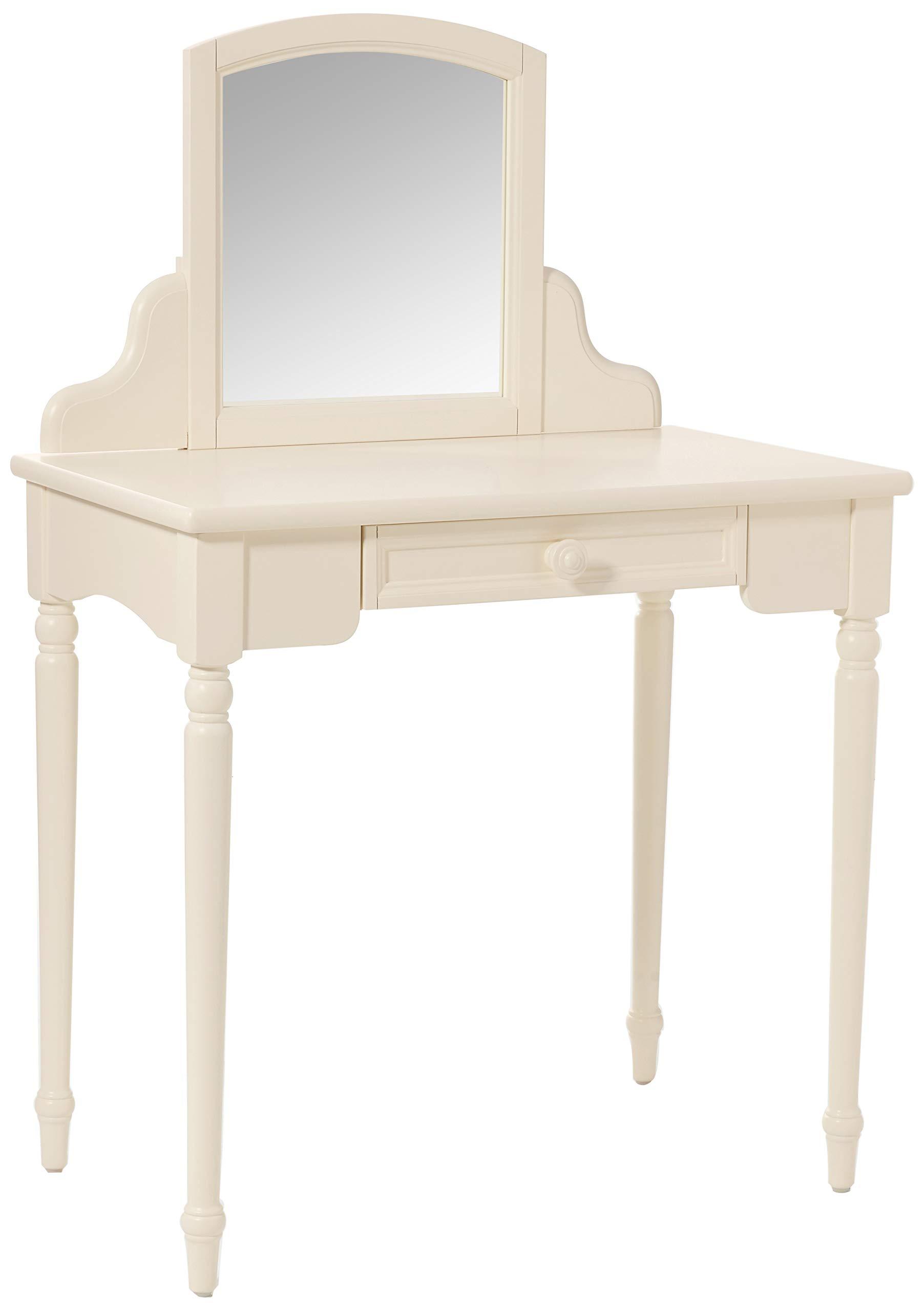 Carriage House Children Vanity Table with Mirror Storage Vintage White Children/'s Furniture KTFR-14865-01 Childrens Furniture