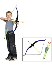 Dazzling Toys Toy Bow and Arrow Play Set for Camping | Children's Archery Set for Kids - Toy Bow and Arrow Play Set with Quiver, Bows and Arrows | Youth Archery Target Shooting Kit