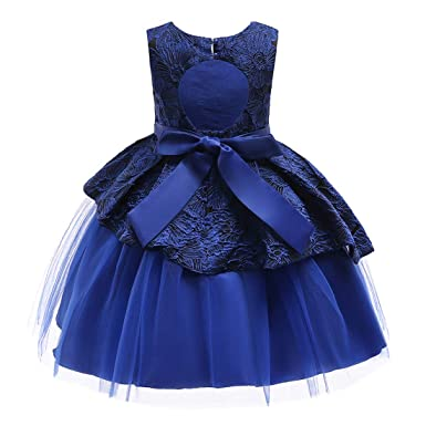 b812ac95f6e3 Amazon.com  Flower Girl Pageant Backless Dress Girls Elegant Tulle ...