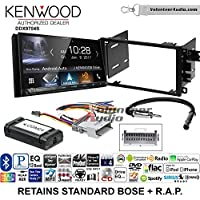 Volunteer Audio Kenwood DDX9704S Double Din Radio Install Kit with Apple Carplay Android Auto Fits 2003-2005 Chevrolet Blazer, 2003-2006 Silverado, Suburban (Standard Bose)