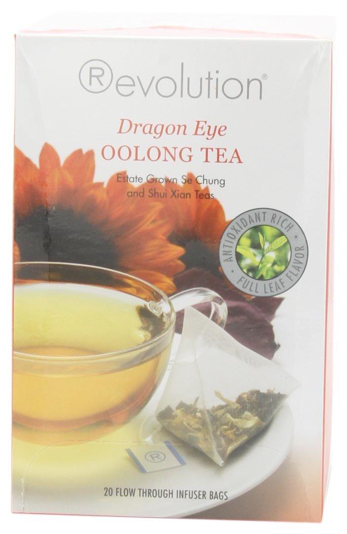 Revolution Tea Dragon Eye Oolong Tea, 20-Count Tea Bags (Pack of 6)