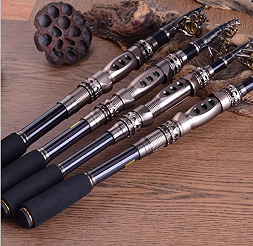 Best plusinno telescopic fishing rod retractable fishing for Light fishing rods