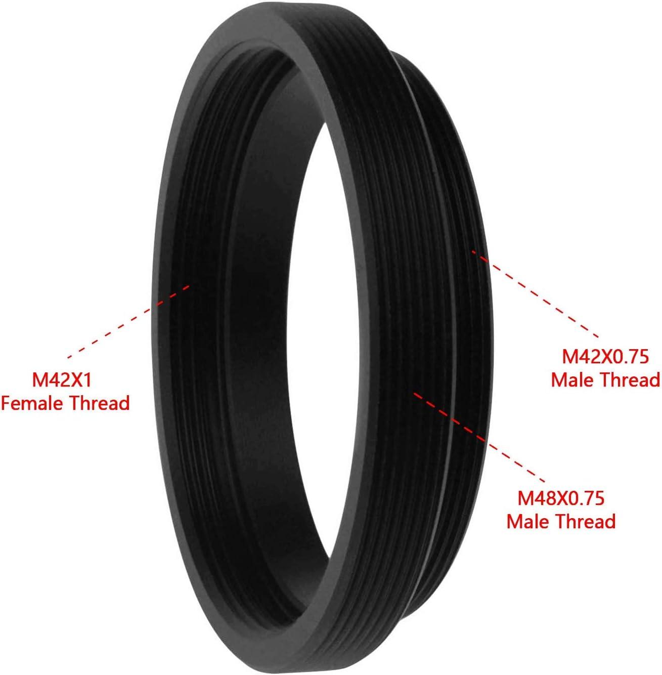 Female to M42X0.75 T T2 Male Thread Telescope Adapter 2 Filter Alstar M48X0.75