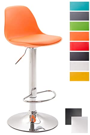 Tabouret De Bar Amazon.Clp Tabouret De Bar Design Kiel Assise En Similicuir Chaise De Bar Avec Dossier Plastique Repose Pied Tabouret Ergonomique Hauteur Reglable