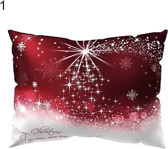 Capa de almofada Narutosak Merry Christmas Tree Snow Throw