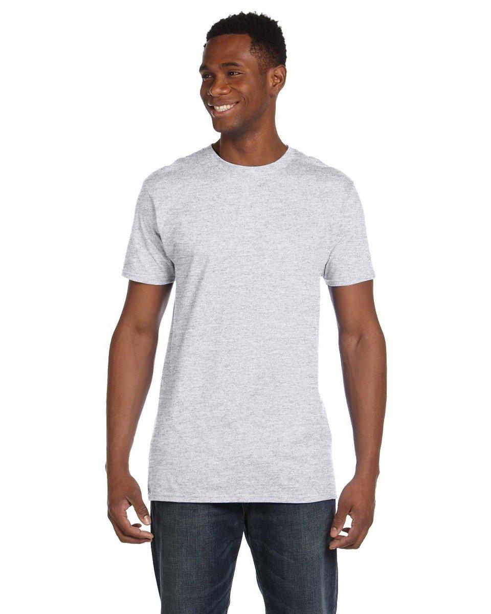 Hanes 4,5oz, 100% hilado y algodón Nano-T camiseta (4980)-Rojo, 3x l