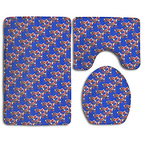 Oyhra Roller Skate Super Plush Bathroom Rugs Set Without Deformation Bathroom Rugs And Mats Not Fade Lid Toilet Cover And Bath Mat