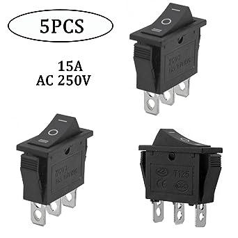 Amazon.com: URBEST AC 15A/250V 20A/125V Plastic Metal Black ...