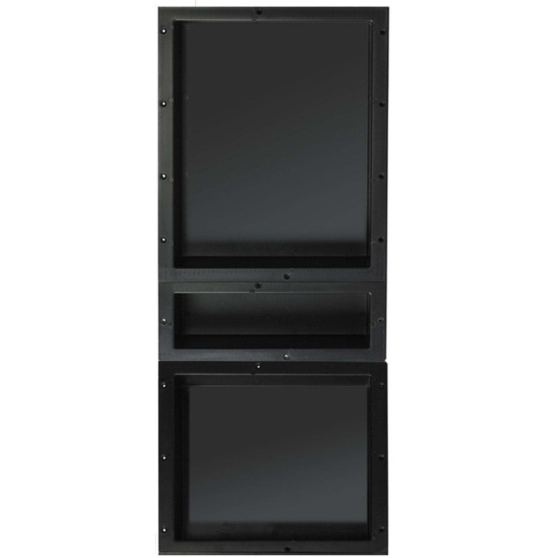 Tile Redi USA RNT1620S-6-14 Redi Niche Triple Shelf with 14'' H & 20'' H Inner Shelf, 16'' W x 40'' H