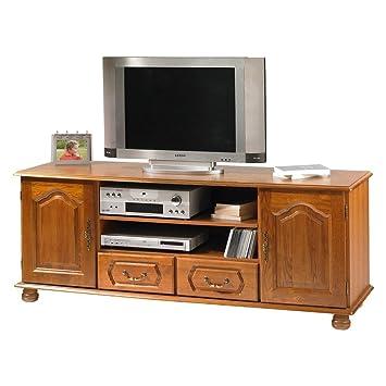 actual diffusion 56392ar bretagne grand meuble tv avec 2 portes2 tiroirs bois 46