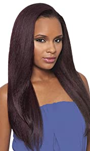 DOMINICAN BLOWOUT STRAIGHT BUNDLE HAIR (2 Dark Brown) - Outre Batik Quick Weave Synthetic Half Wig