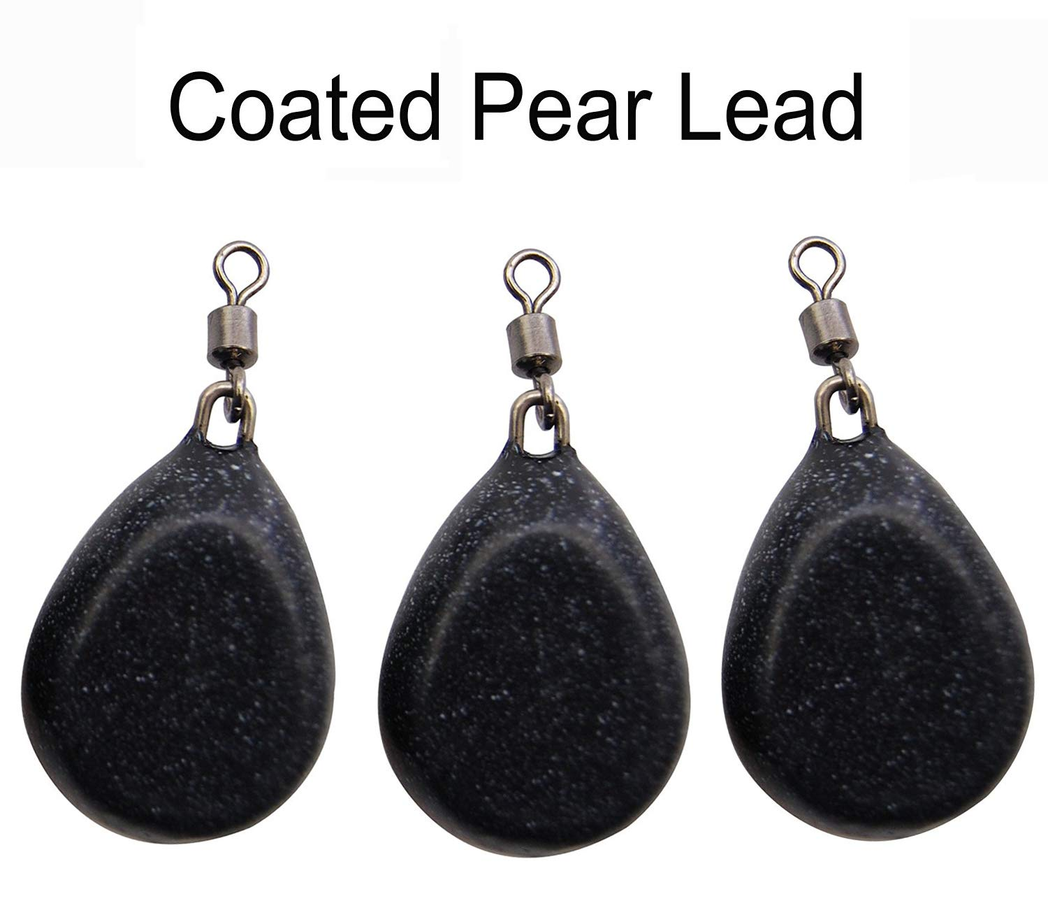 5 x 2oz Flat Pear Smooth Coated Inline Carp Leads GREEN