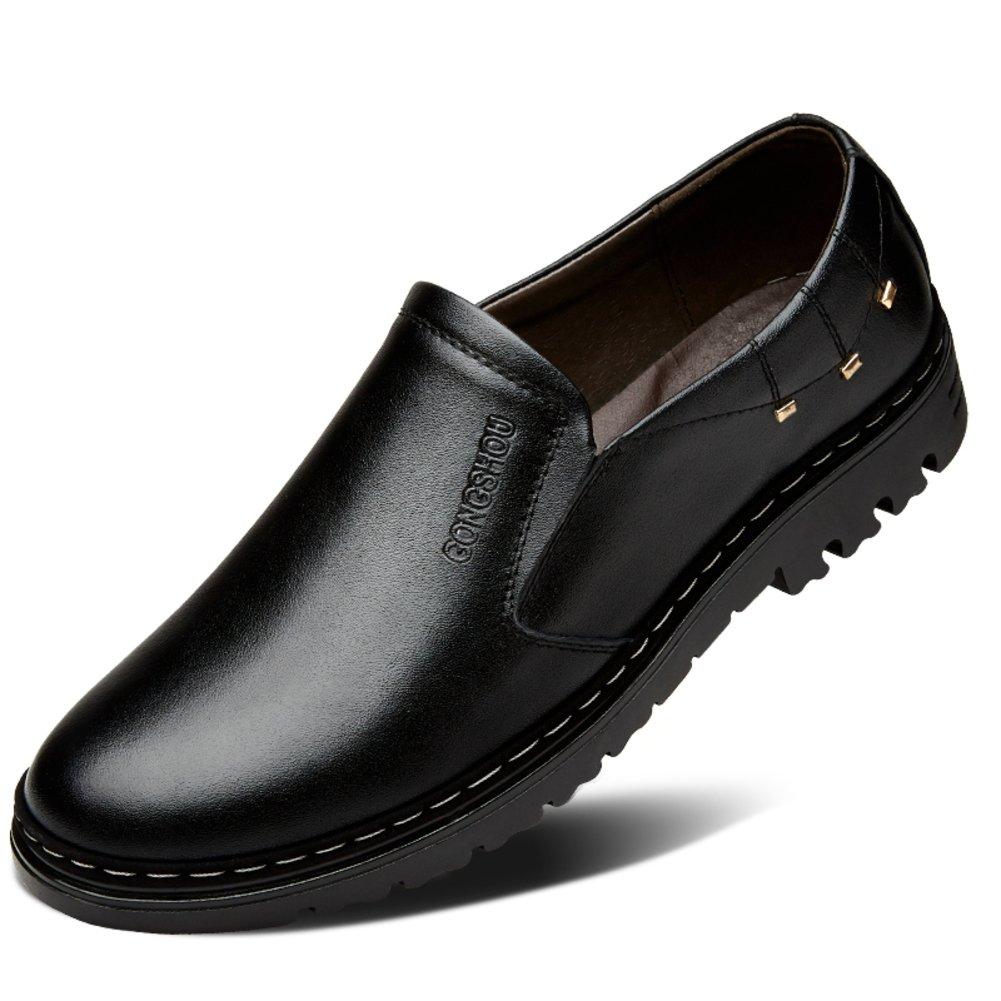 Herbst atmungsaktiv Herren Schuhe Business casual Lederschuhe Männlichen Perücke Füße Schuhe  England Mann Schuhe Plus Größe Schuhe