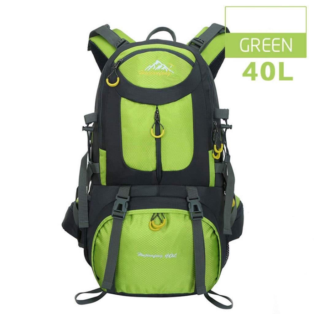 ZDD アウトドア 登山用バッグ キャンピングバッグ 男女兼用 40リットル 大容量 防滴 バックパック 学生用バッグ B07G8V5VV1 フルーツグリーン