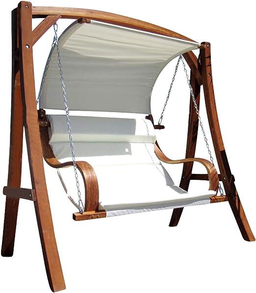 Diseño oscilación del jardín porche columpio hamaca modelo de alerce madera: HM101 MERU: Amazon.es: Jardín