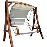 Progettazione dondolo giardino altalena amaca modello di larice di legno: HM101 'MERU'