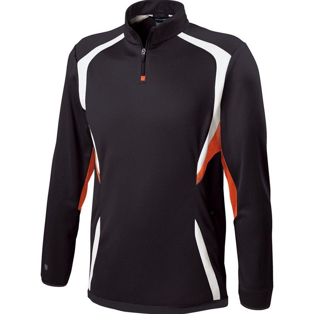 Holloway Youth Transform Pullover (Small, Black/Orange/White)