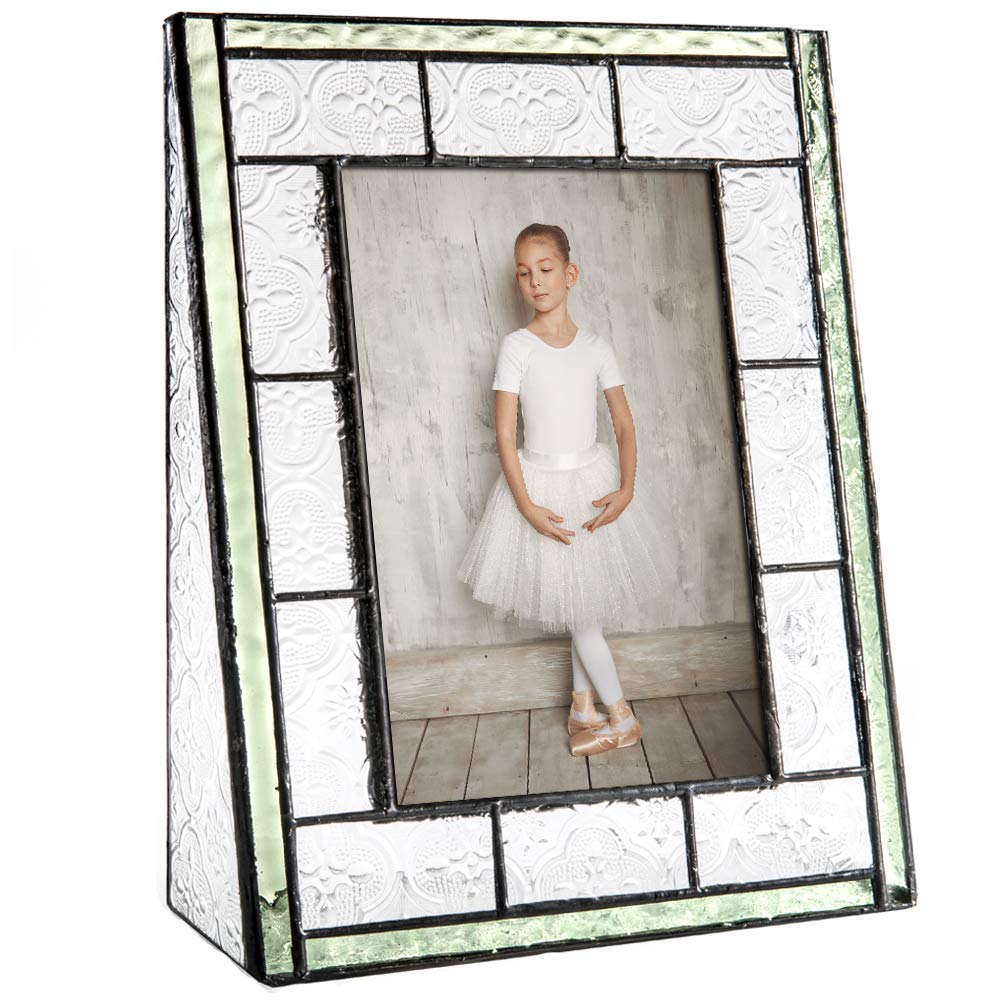2x3 Double J Devlin Glass Art Pic 122-46H J Devlin Pic 122-2 Green Vintage Stained Glass Picture Frame