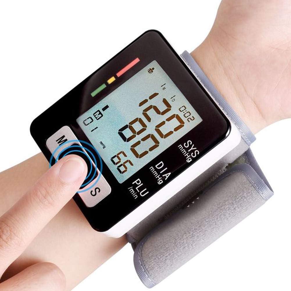 ACC Esfigmomanómetro de muñeca automático portátil con Monitor de presión Arterial de Pulsera Ajustable para el hogar y la atención médica