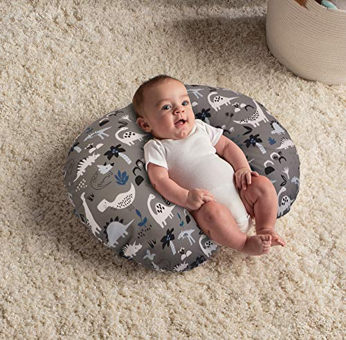61wFEhglmdL - Boppy Original Nursing Pillow And Positioner, Gray Dinosaurs, Cotton Blend Fabric With Allover Fashion