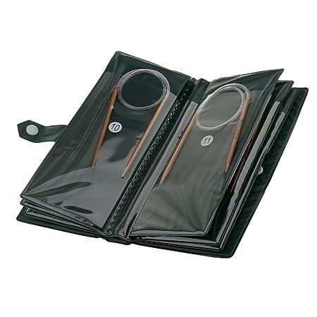 11 Sizes 80cm Circular Clear Cube Bamboo Knitting Needles Set Kit