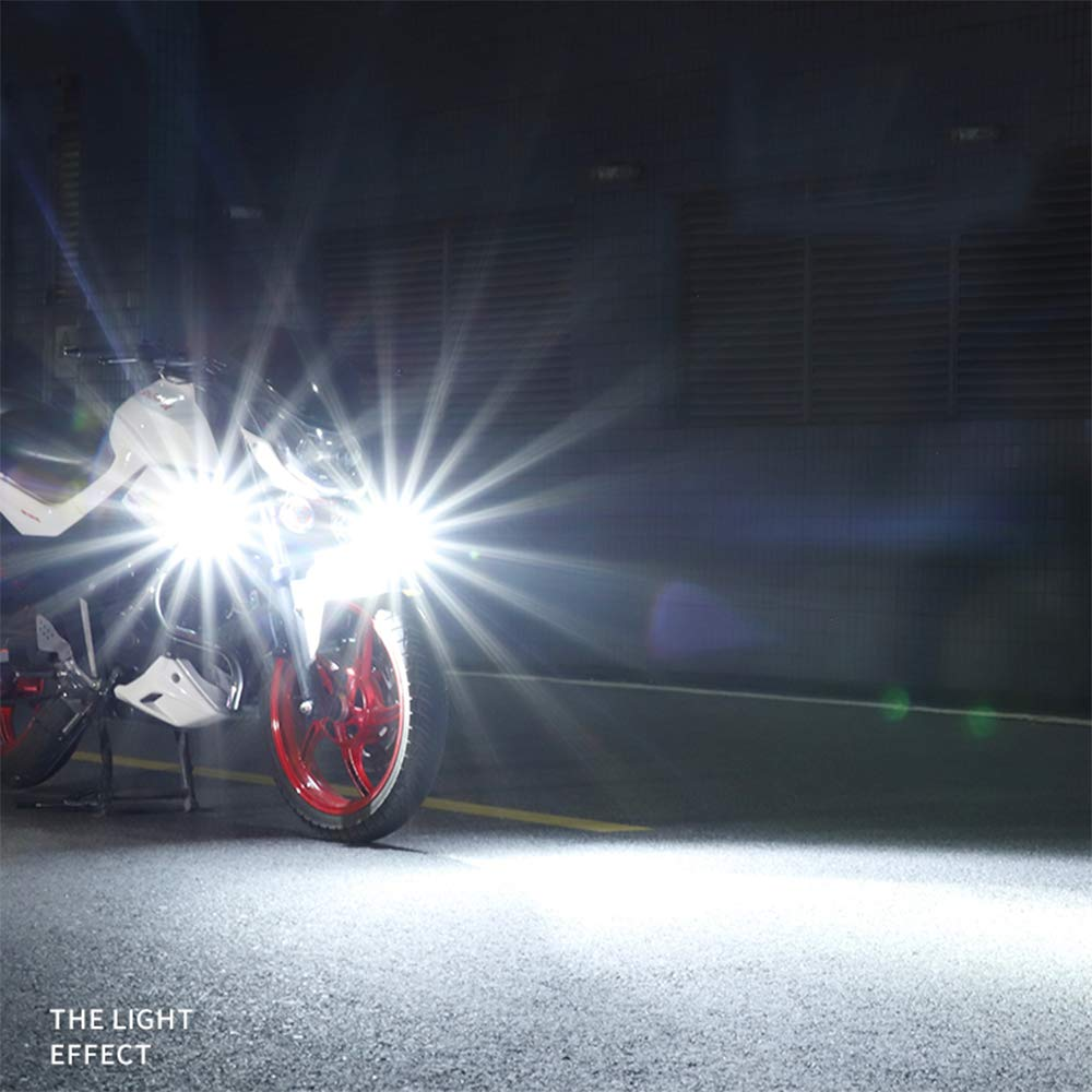 pack of 2 Motorcycle Super Bright 40W T6 LED Spotlight Headlight Work Light Driving Fog Spot Lamp Universal for All Motorbike Truck Off-Road 4X4 ATV Tractor