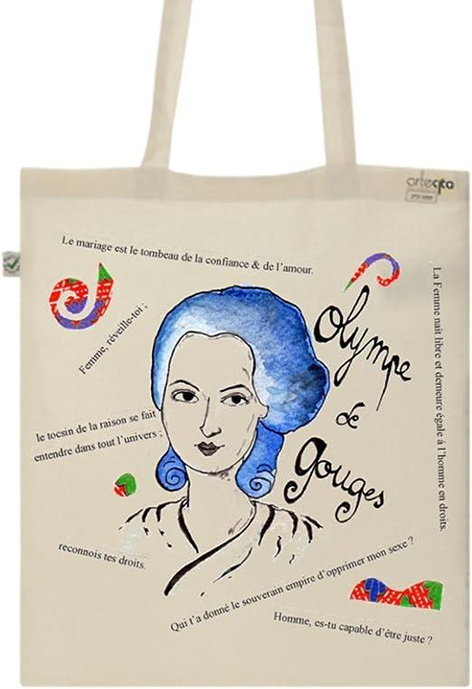 Tote Bag Imprimé Ecru – Lienzo de algodón orgánico – Olympe de ...