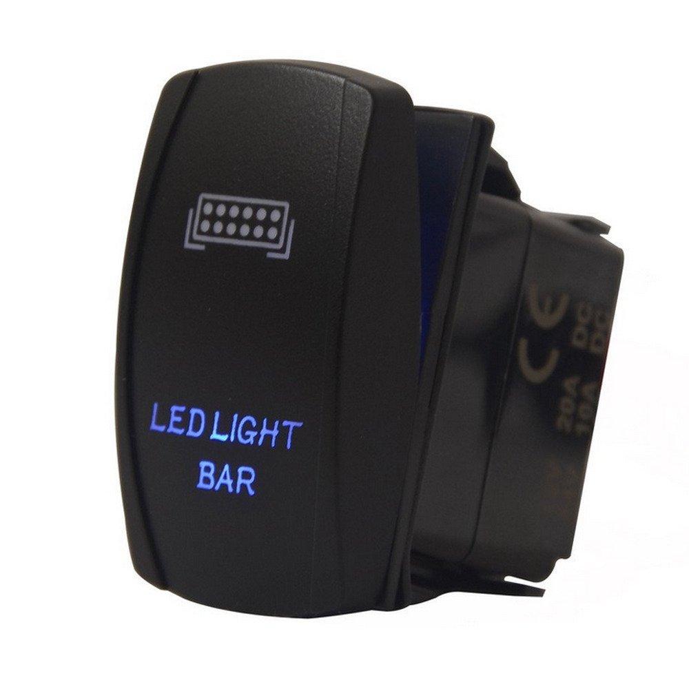 Supmico veicolo auto 12V 20A 24V 10A LED lampada leggera blu interruttore a bilanciere luce 5Pin Bumper Bar Light